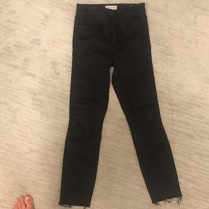 "Madewell 10"" high rise skinny jeans in Black Sea"